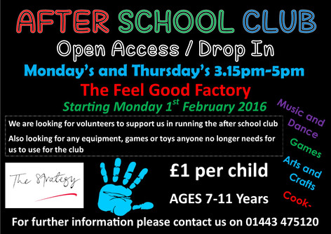 New After School Club - The Feel Good Factory - 1st February 2016