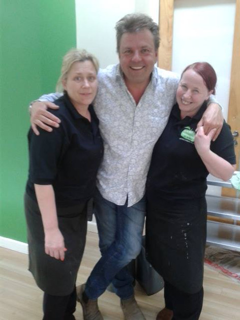 Martin Roberts from Homes Under the Hammer visits our Healthy Nibbles Cafe