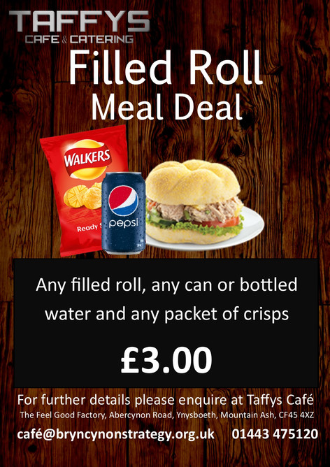 New Meals Deals available at Taffys Cafe & Catering