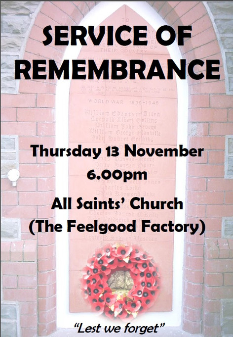 Service of Remembrance - 13/11/14