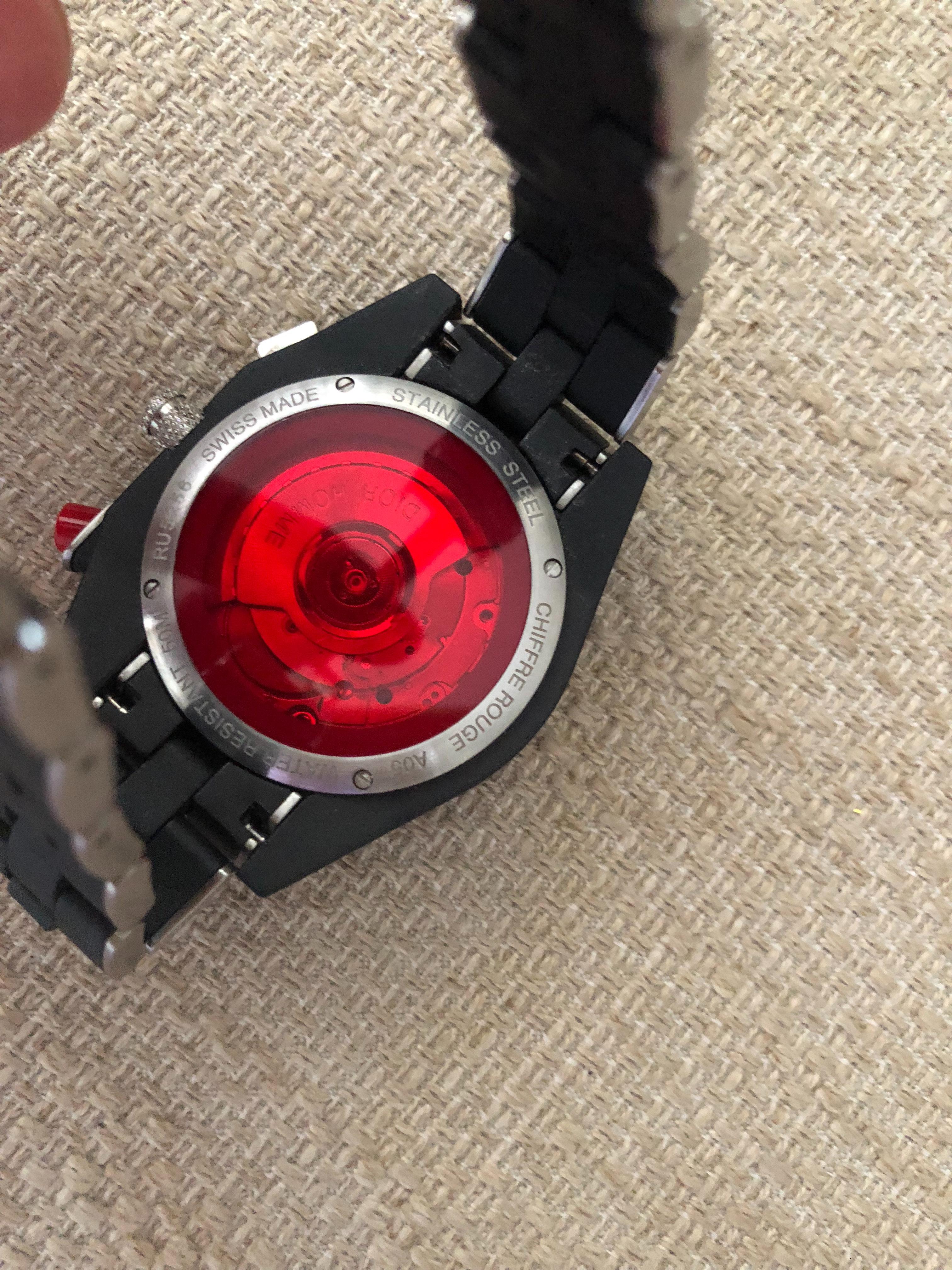 4b40c7f0a0f Relógio Dior Chiffre Rouge