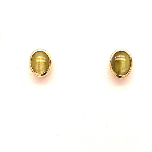 Chrysoberyl Cat's Eye Earrings