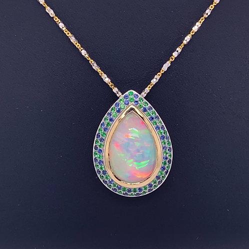Opal, Sapphire & Tsavorite Necklace
