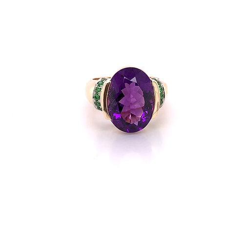 Amethyst &Tsavorite Ring