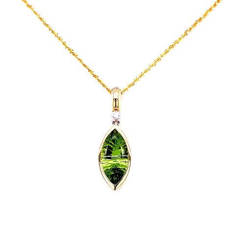 Peridot & Diamond Necklace
