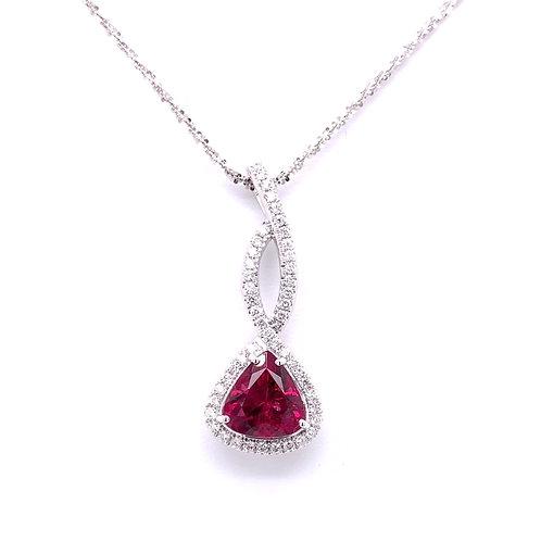 Rubellite & Diamond Necklace
