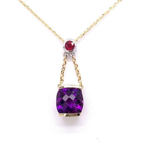 Amethyst & Ruby Necklace