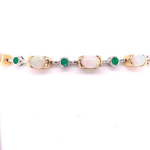 Opal & Emerald Bracelet
