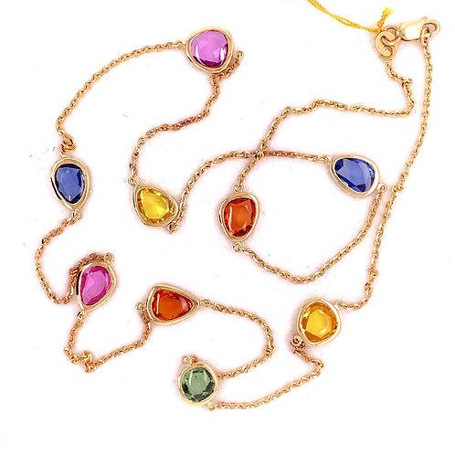 Multi-Color Sapphire Necklace