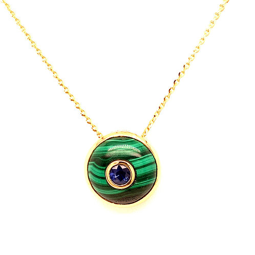 Sapphire & Malachite Necklace