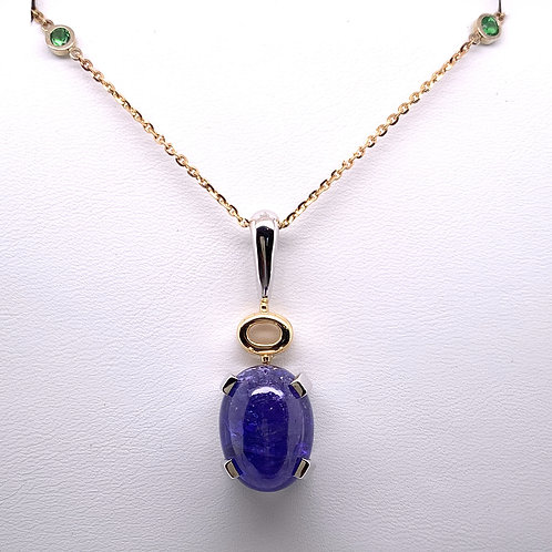 Tanzanite & Tsavorite Necklace