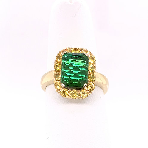 Tourmaline & Yellow Sapphire Ring
