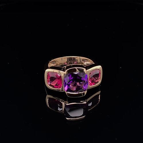 Amethyst & Rubellite Ring