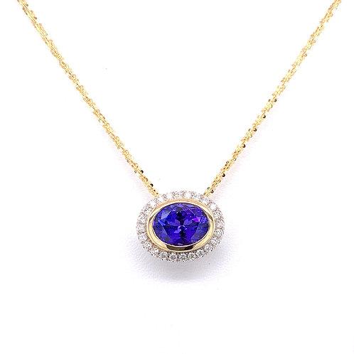 Tanzanite & Diamond Necklace
