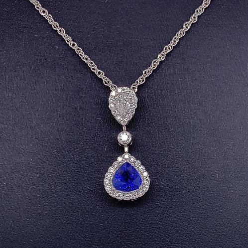 Sapphire & Diamond Necklace