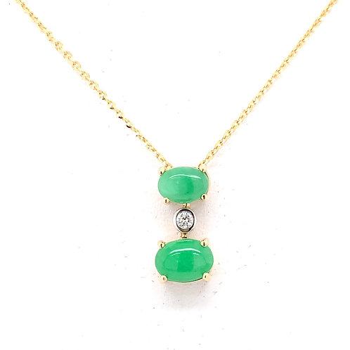 Jade & Diamond Necklace