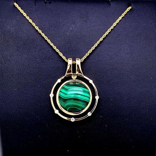 Malachite & Diamond Necklace