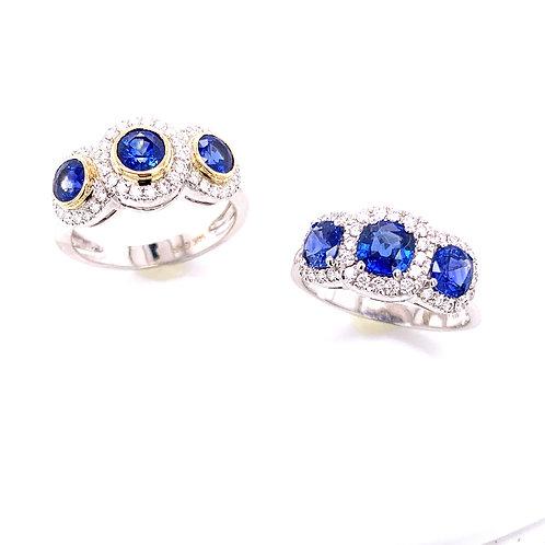 Ceylon Sapphire & Diamond Rings