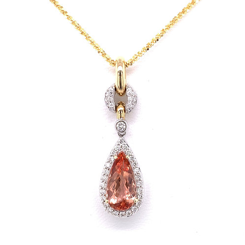 Precious Topaz & Diamond Necklace