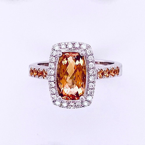 Precious Topaz & Diamond Ring
