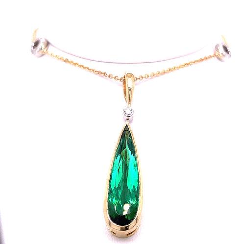 Tourmaline & Diamond Necklace