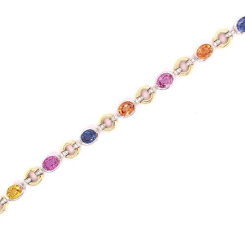 Multi-Color Sapphire Bracelet