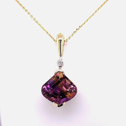 Ametrine & Diamond Necklace