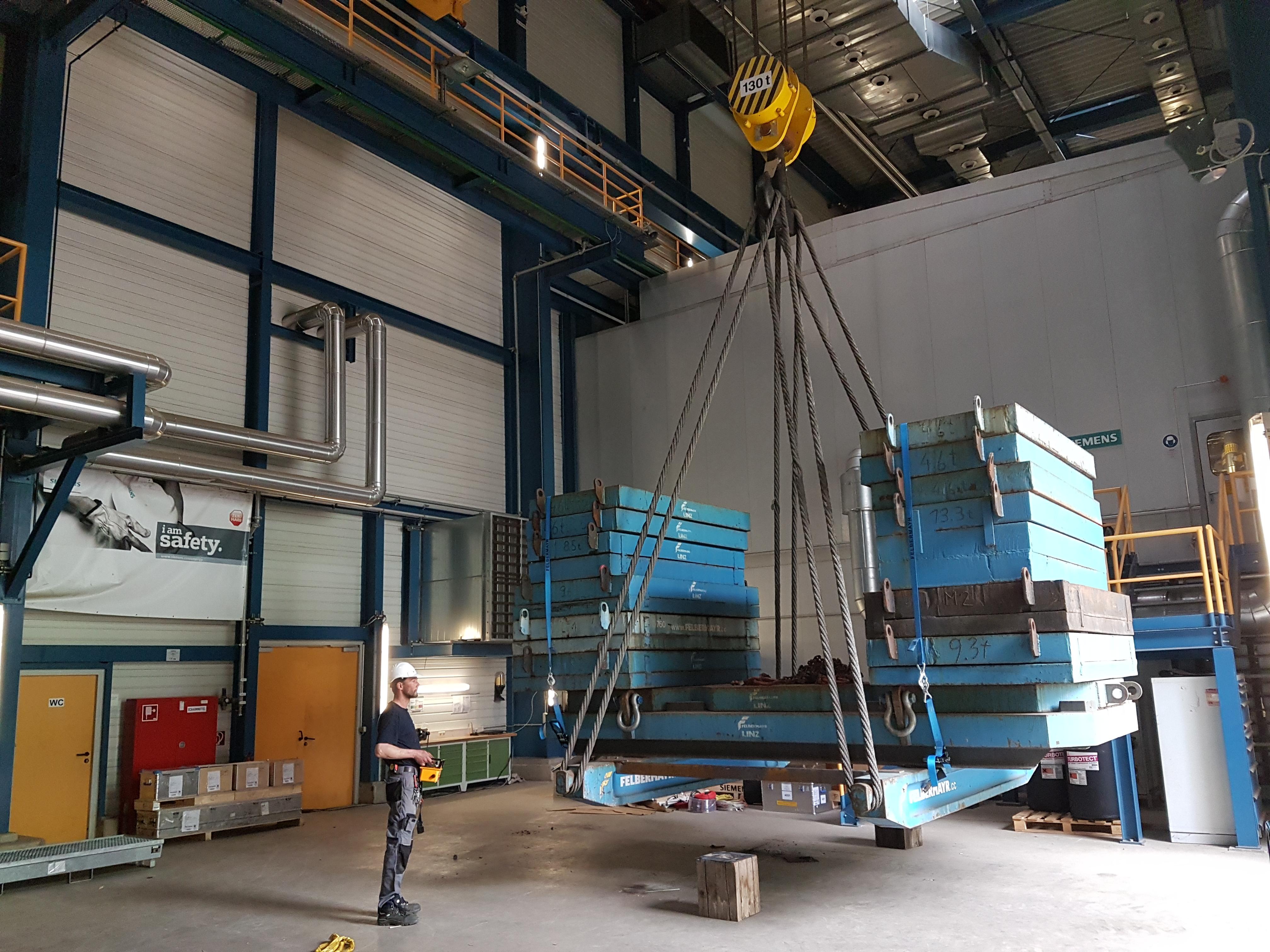 Kranprüfung Kraftwerk Simmering