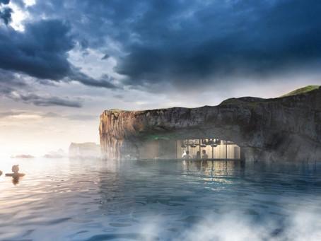 Ouverture d'une nouvelle lagune en Islande avec un bar dans la piscine !