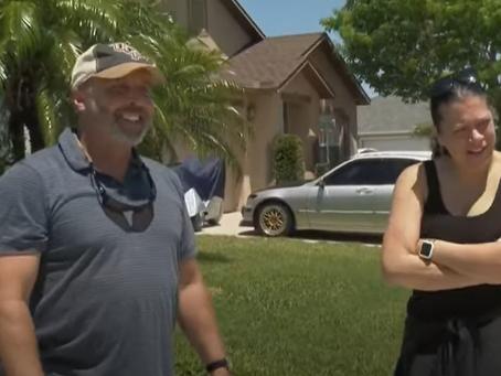 Une femme du centre de la Floride sauve un voisin qui s'étouffer à l'extérieur de sa maison !
