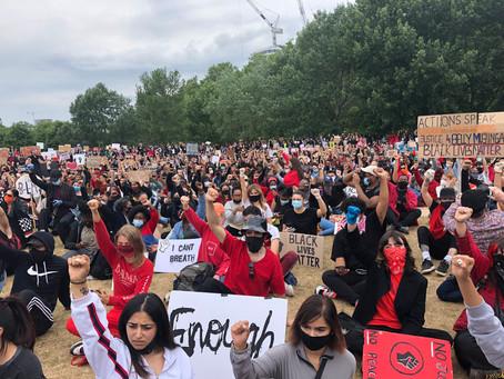 Mort de George Floyd : rassemblement de masse à Londres en pleine crise sanitaire