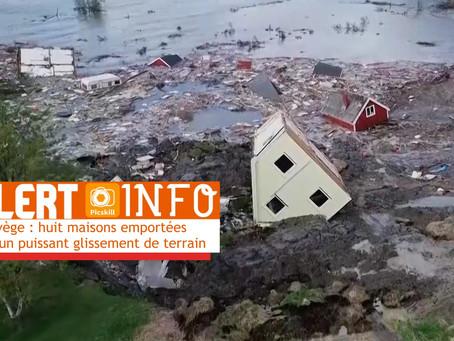 VIDÉO. Norvège : huit maisons emportées par un puissant glissement de terrain