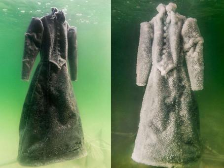 Elle a plongé une robe dans la mer pendant 2 ans. Quand elle l'a sorti, c'est devenu un chef-d'œuvre