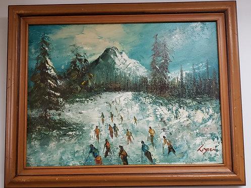 Skiers Painting Gallery Item 1012