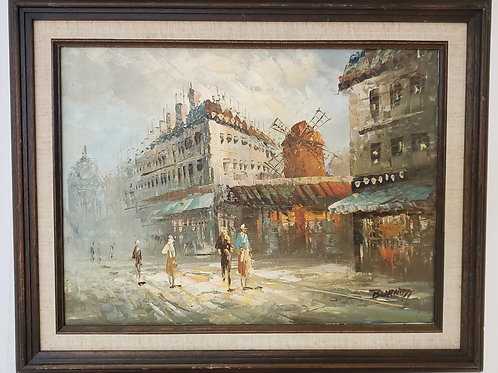 Impressionist Industrial town Gallery Item 1015