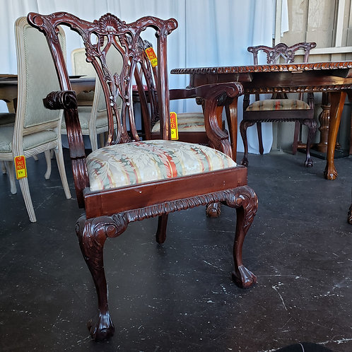 Antique Mahogany Hand Carved Ball and Claw Dining Set