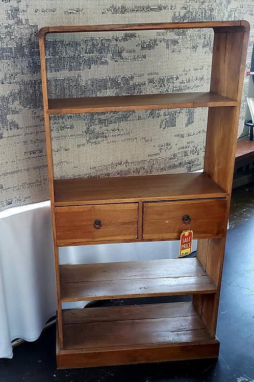 Rustic Teak Balinese Bookcase
