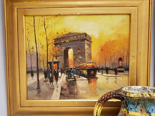 Gold Series Painting Arc De Triomphe Gallery Item 1005