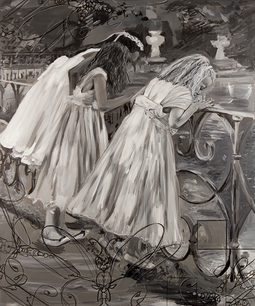 Three Girls in Giardino di Boboli