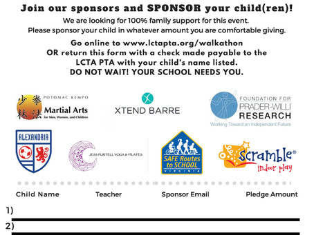 WAT! Join our sponsors and sponsor your child(ren)!