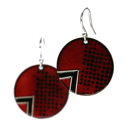 Organic Deep Red Earrings