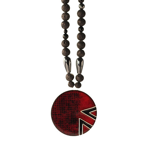 Organic Necklace with Chevrons