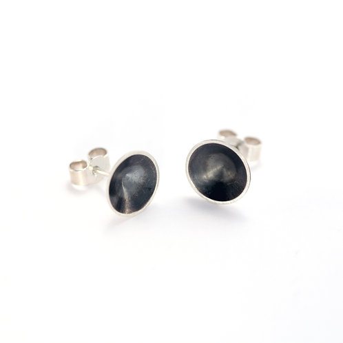 Oxidised Silver Cone Studs