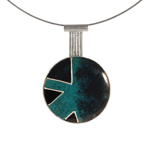 Turquoise Geometric Pendant