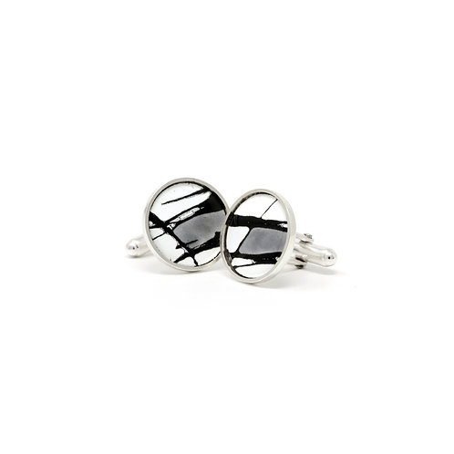 Grey Accent Splash! Cufflinks