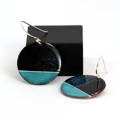 Organic Earrings with Blue Bottom