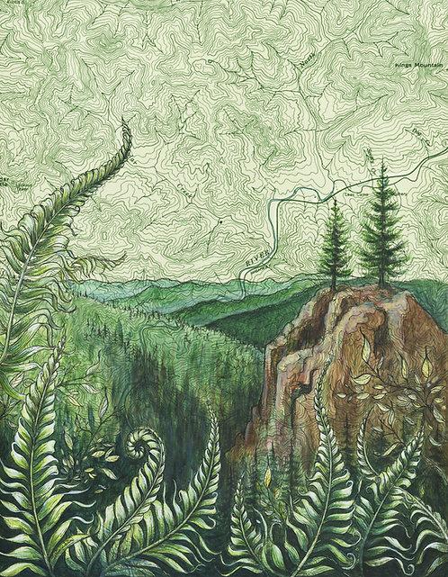 Tillamook Forest Original Painting