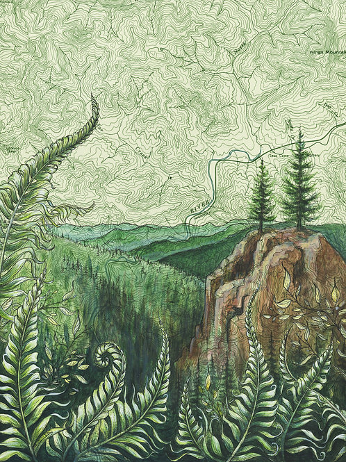 Tillamook Forest Original Painting