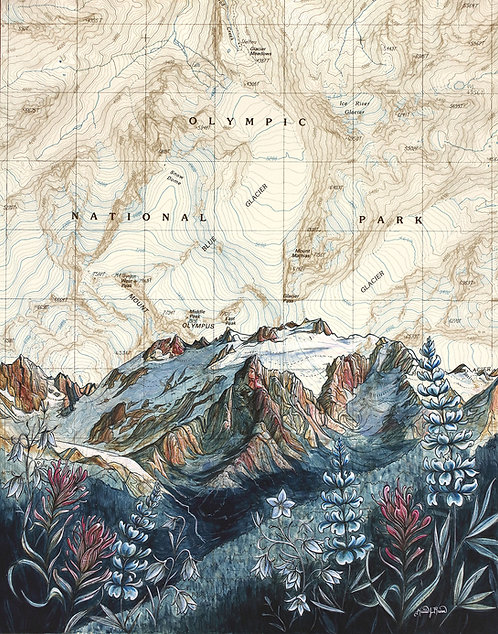 Mt Olympus Print
