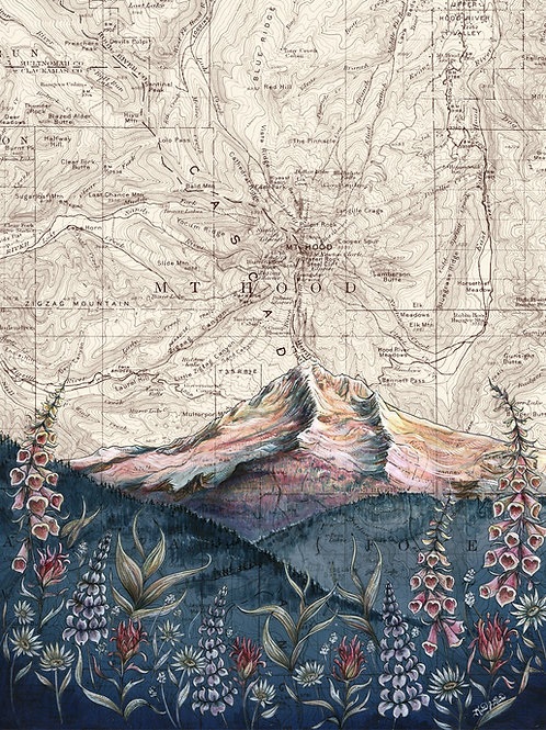 Mt Hood Lolo Pass Original Painting
